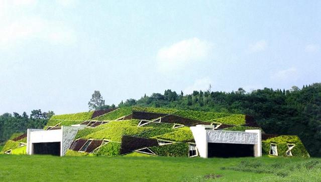 坡屋顶绿化