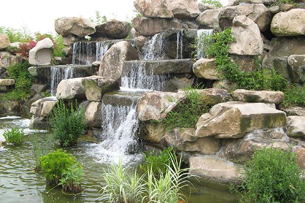 杭州庭院硬景之假山风水布局